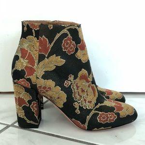 Floral Print Aquazzura Ankle Boots